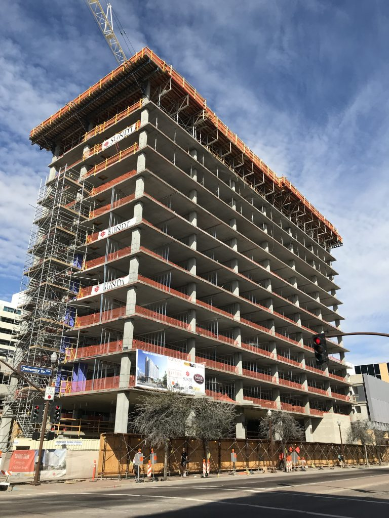 Sundt Tops Out On Canopy By Hilton Hotel In Tempe