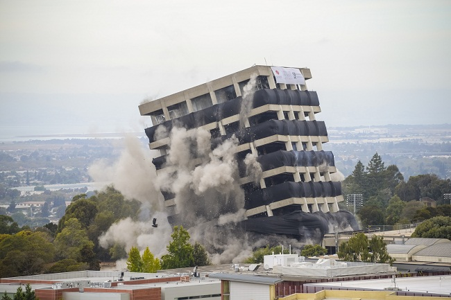 University Building Imploded As Part of $40 Million Project ...